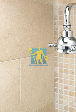 limestone tile shower thala cream Everton Park cleaning