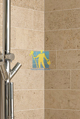 limestone tiles shower moleanos beige Everton Park cleaning