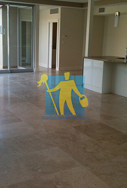 extra large porcelain floor tiles after cleaning empty room with kitchen Nudgee