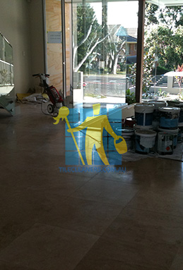 extra large porcelain floor tiles after cleaning empty room with polisher Nudgee