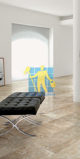 modern living room with textured rectangular porcelain tiles on floor Nudgee