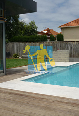 outdoor sandstone tiles pool coping snow white Brisbane